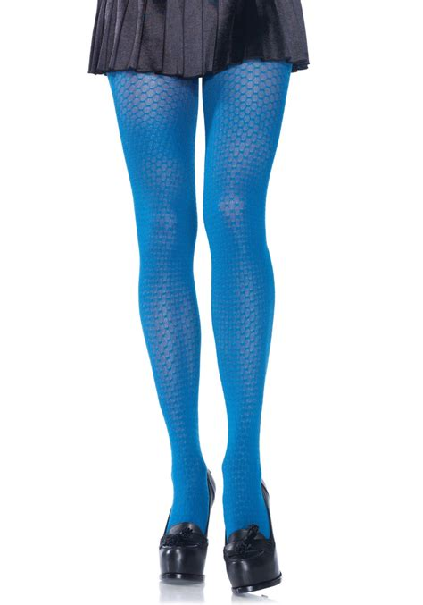 knit tights opaque honeycomb knit tights leg avenue