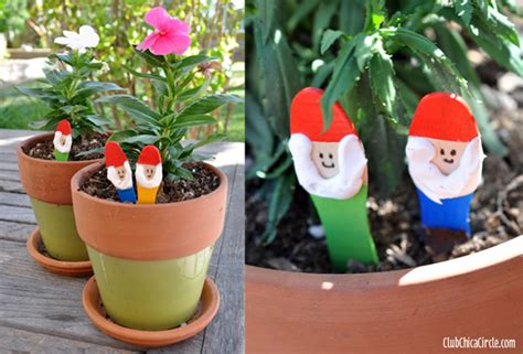 gardening crafts for easiest garden gnome craft idea for club chica