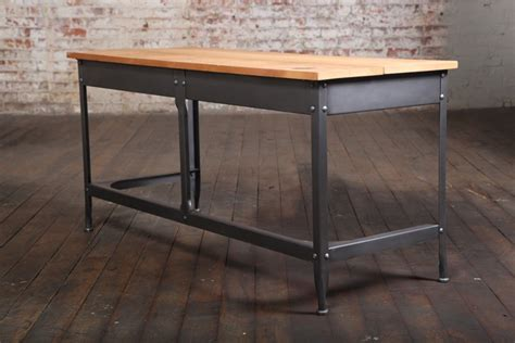 vintage industrial desk vintage industrial student desk original made in america