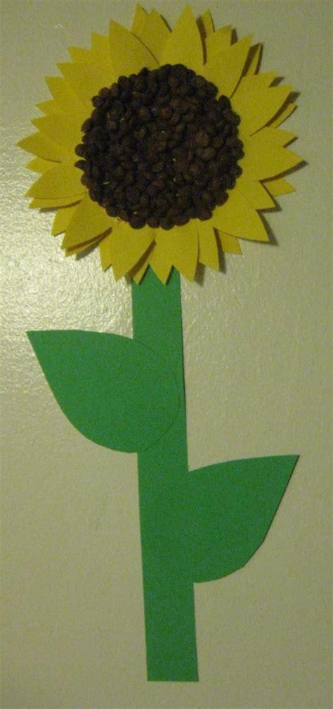 sunflower crafts for preschool craft sunflowers free printable template