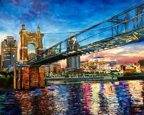 paint nite cincinnati cincinnati skyline paintings jefferyj