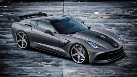 1600 X 900 Car Wallpapers by Chevrolet Corvette C7 Supercar Gris Galuchat Fonds D 233 Cran