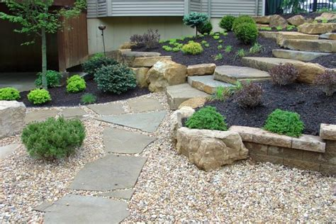 elevated garden ideas elevated simple rock garden ideas with black sand