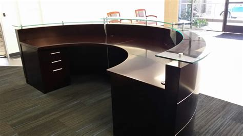 circle reception desk large reception desk half circle reception desk