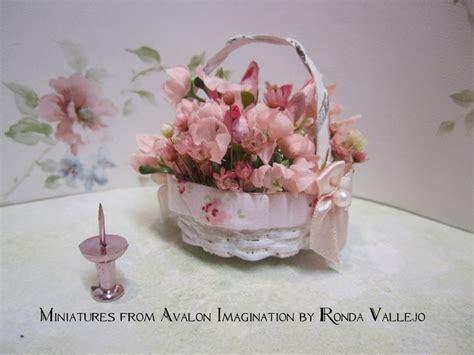 shabby chic floral arrangements miniature shabby chic basket of flowers floral arrangement