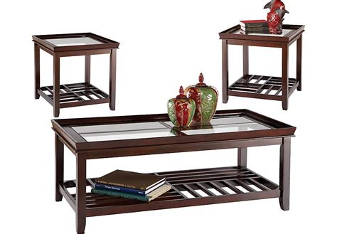 3 living room table sets santos espresso 3 pc table set table sets wood