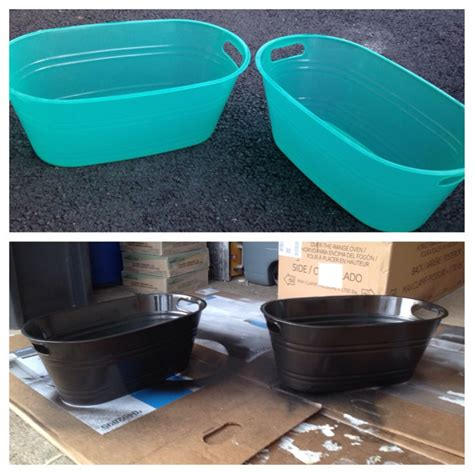 spray painting plastic spray paint plastic bins with a metal finish and you get