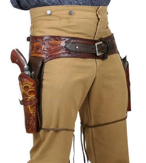 leather gun belt and holster 44 45 cal western gun belt and holster harvest colors tooled leather