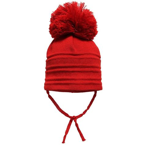pom pom knit hat satila of sweden wool knit hat with large pom pom
