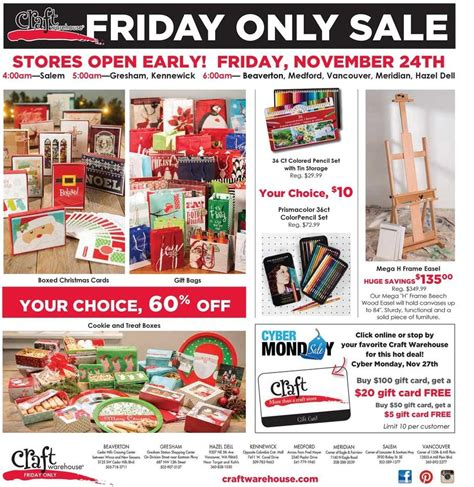 craft warehouse craft warehouse black friday ads sales and deals 2017