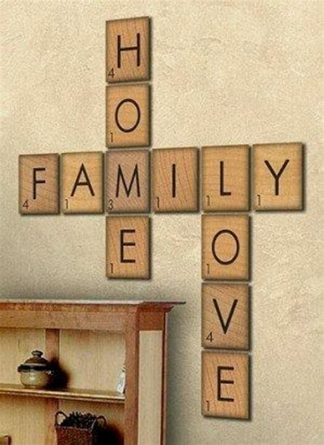 Scrabble Home Family Signs