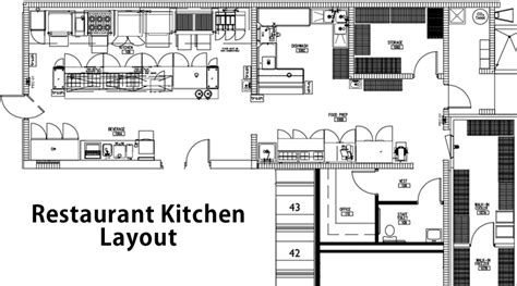 restaurant kitchen layout ideas restaurant layout and design guidelines to create a great restaurant layout
