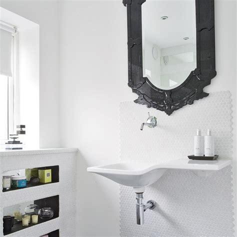 black bathroom mirror white bathroom with black mirror modern bathroom