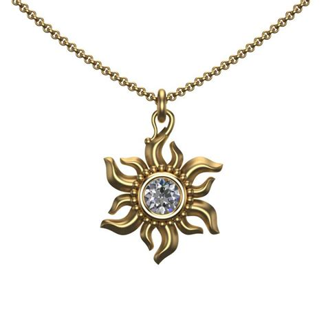 jewelry pendants sun pendant in 18k gold official jewelry by