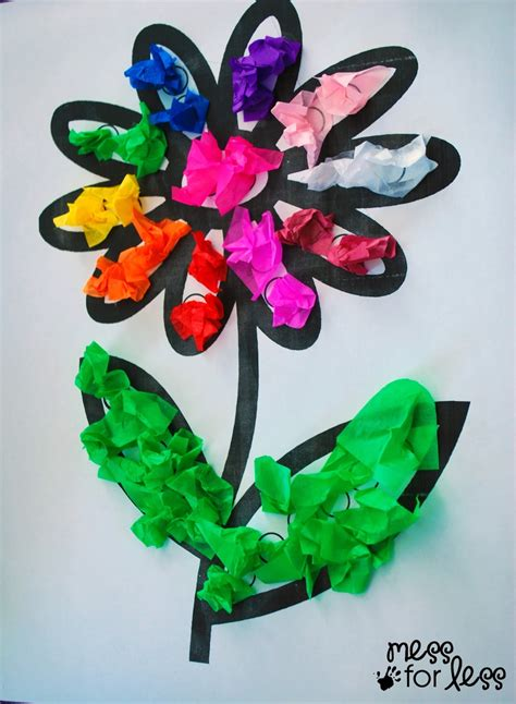 tissue paper craft tissue paper flower activity mess for less
