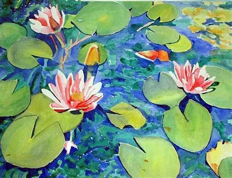 acrylic painting water lilies 103 best images about water lilies on water