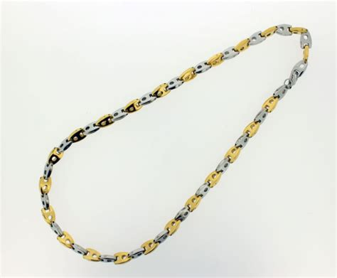 how to make neck chain with 2 tone gold chrome neck chain