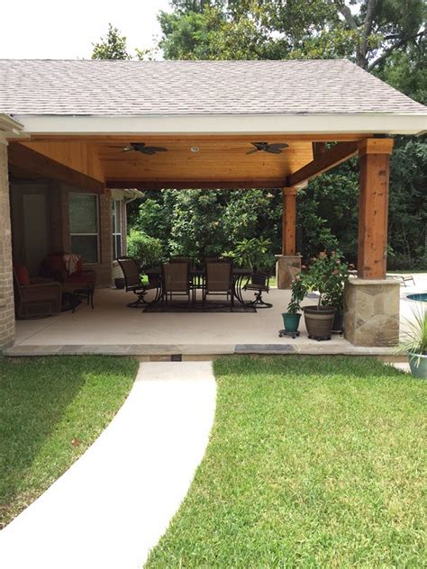backyard covered patio designs backyard paradise magnolia tx united states gable