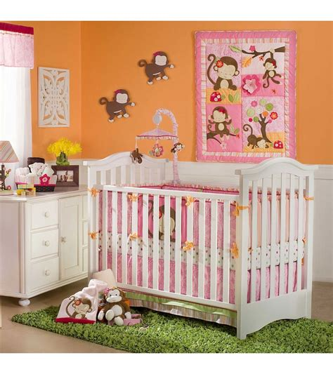 monkey crib bedding kidsline miss monkey 4 crib bedding set
