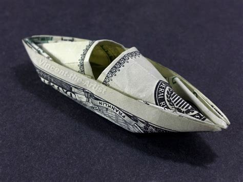 hundred dollar bill origami items similar to hundred dollar bill origami kayak boat