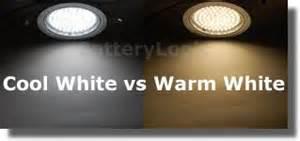 led warm white vs cool white led lighting