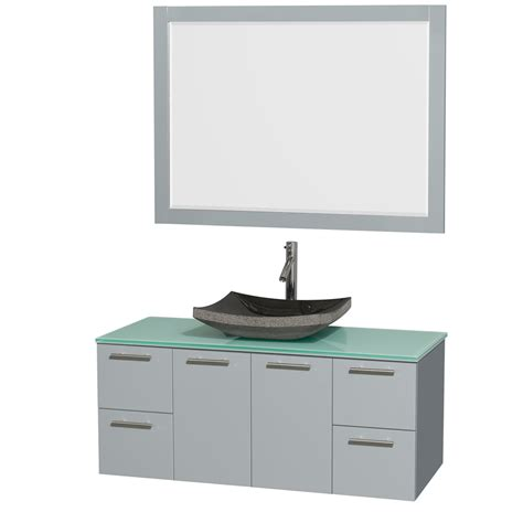 amare bathroom vanity wyndham collection amare 48 quot wall mounted bathroom vanity set with vessel sink dove gray wc