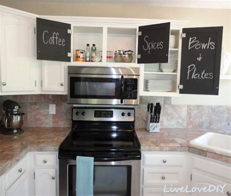 diy chalkboard kitchen cabinets kitchen makeover with chalkboard cabinet doors