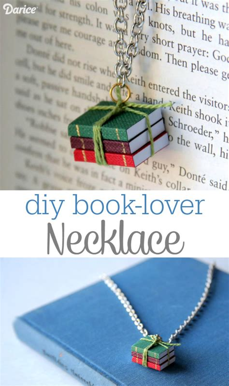 easy picture books book necklace diy for the book lover darice