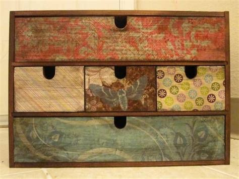 decoupage furniture with scrapbook paper 25 best ideas about decoupage box on farewell