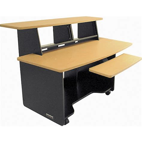 studio desk workstation omnirax presto studio desk black guitar center