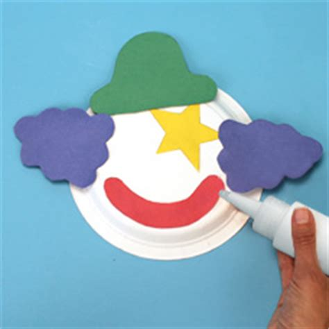 paper plate clown craft paper plate clown craft project ideas
