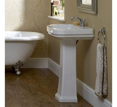 pedestal only for basin essential iris pedestal basin only 550mm wide 1 tap hole