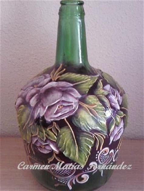 acrylic paint on glass acrylic painting on glass pintura garrafas