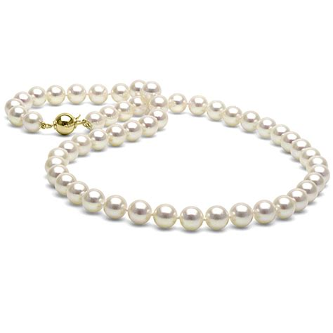 pearl pendants for jewelry white akoya pearl necklace 7 5 8 0mm