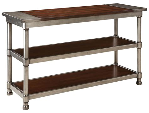wood plank shelves contemporary 2 shelf console table with plank style wood