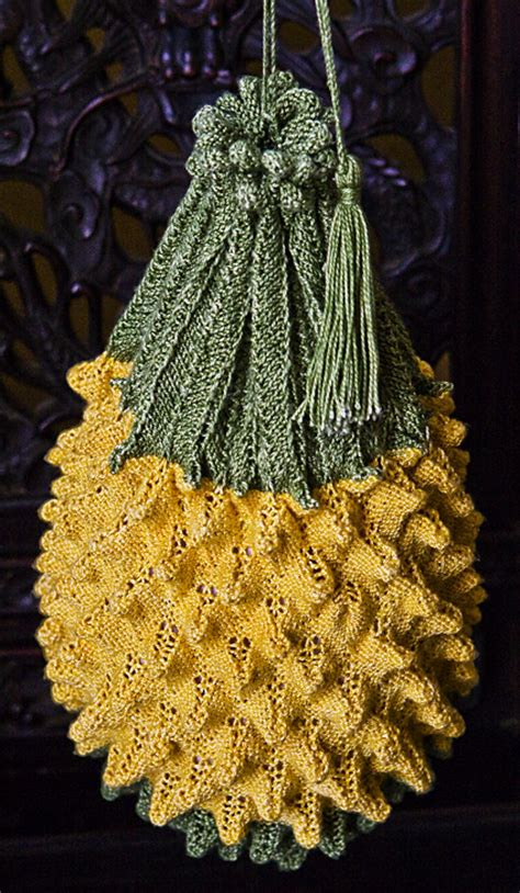 knitted pineapple knitting a esque beaded sovereign ppurse