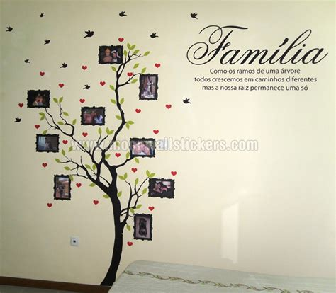 photo wall stickers family tree with photo frames wall sticker with quote in