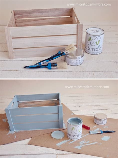 chalk paint para muebles de madera taller chalk paint y diy caja de madera mi cesta de