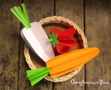 Craftventure Time 3d Paper Fruits And Vegetables