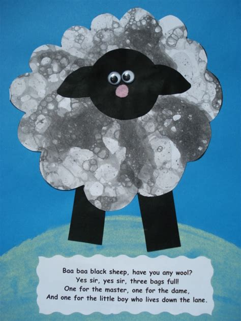 sheep crafts for a faithful attempt baa baa black sheep collage craft