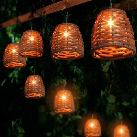 wicker string lights wicker string lights