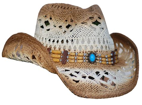 beaded hat bands for cowboy hats j hats multi toned straw hat w beaded hat band