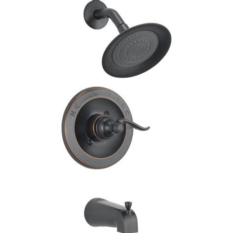 delta bathroom shower faucets shop delta windemere rubbed bronze 1 handle bathtub