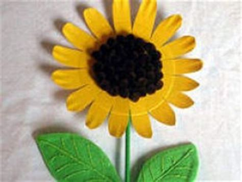 sunflower paper plate craft paper plate sunflower family crafts