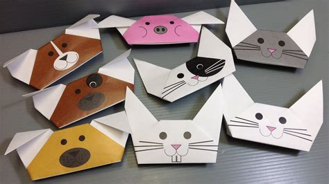 origami puppets origami animal puppets print your own paper
