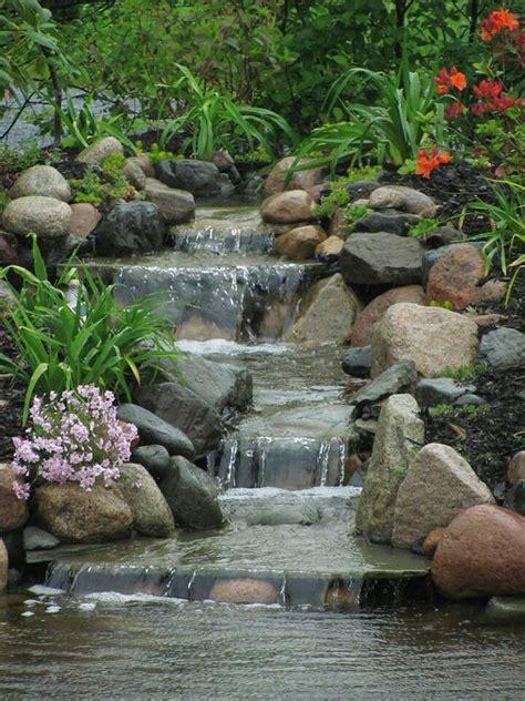 backyard pond ideas with waterfall best 20 garden waterfall ideas on rock