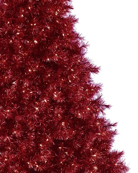roter weihnachtsbaum ruby tinsel tree treetopia