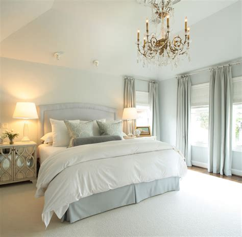 blue bedskirt traditional bedroom goforth design