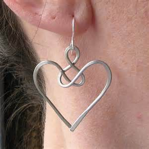 aluminum wire jewelry earrings celtic jewelry wire knot aluminum wire