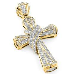 jewelry pendants hip hop jewelry large 10k gold mens cross